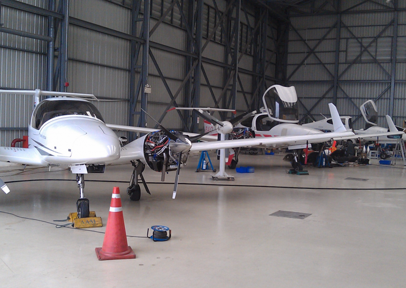 Planes in the AAS Hangar @  Don Muang International Airport